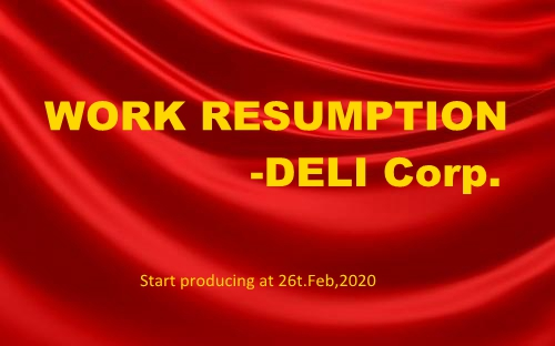 WORK RESUMPTION-DELI